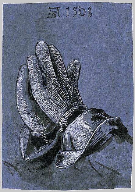 "Postkarte ""Betende Hände"""
