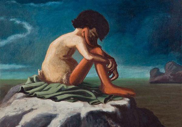 »Nackter Jüngling am Meeresufer« nach Hippolyte Douquelin