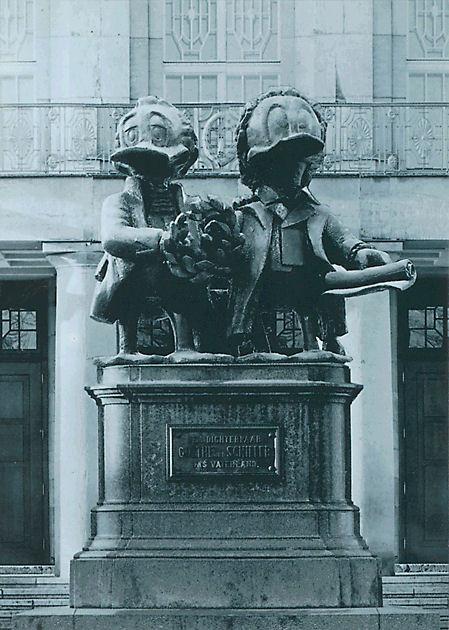 """Postkarte """"Goethe-Schiller Denkmal"""""""