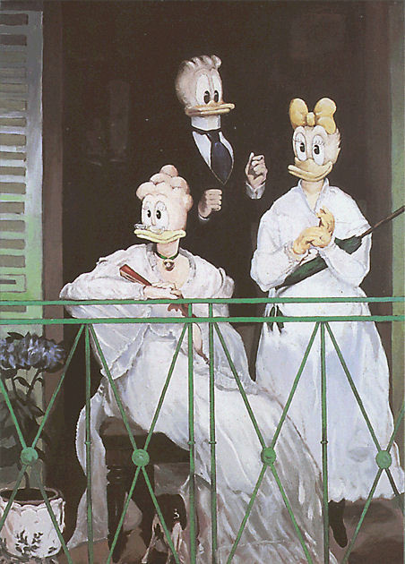 "Postkarte ""Manets Balkon"""