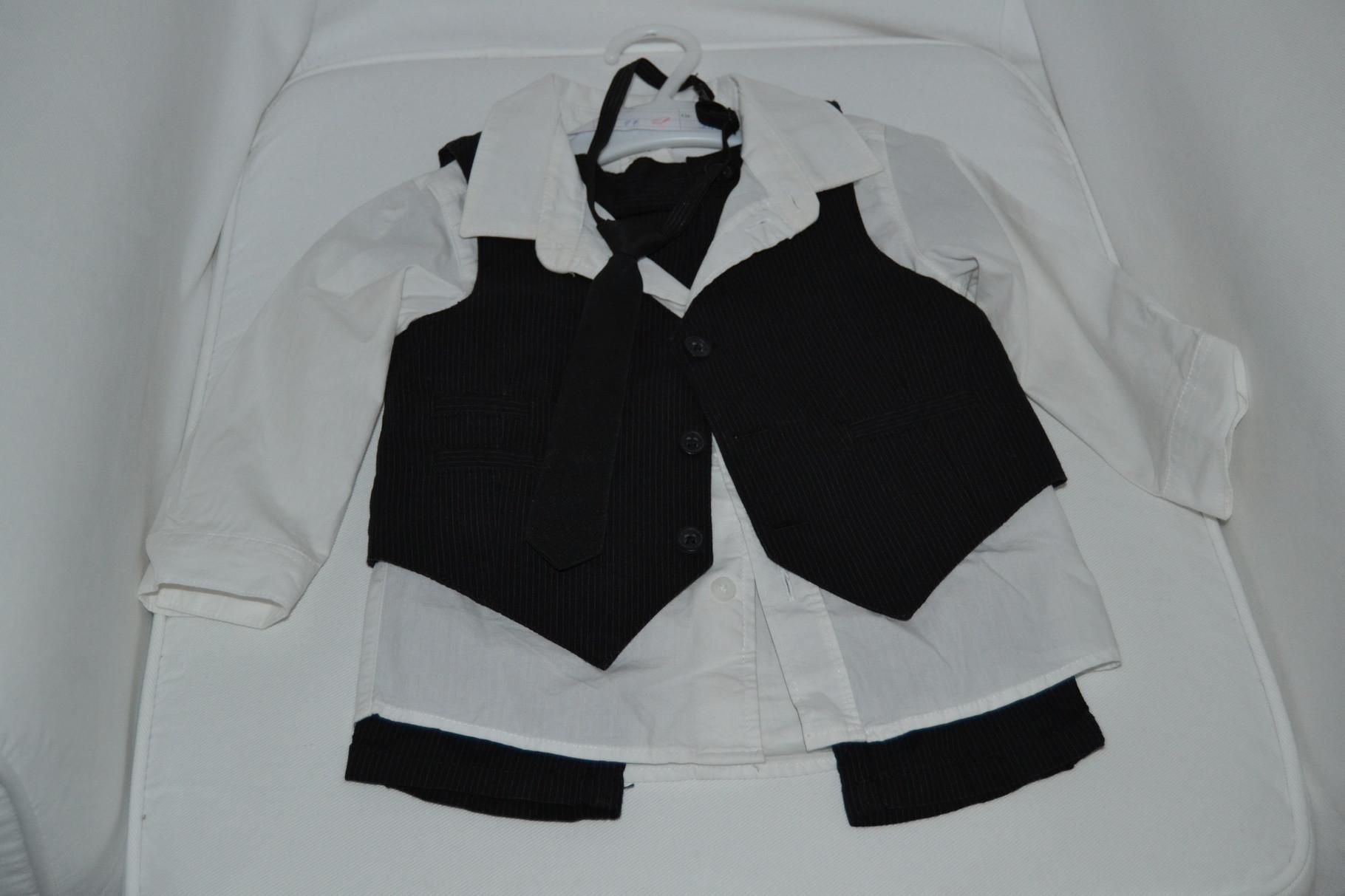 4-teiliges Anzug Set mit Hose, Hemd, Weste und Krawatte - H&M - 10,- €