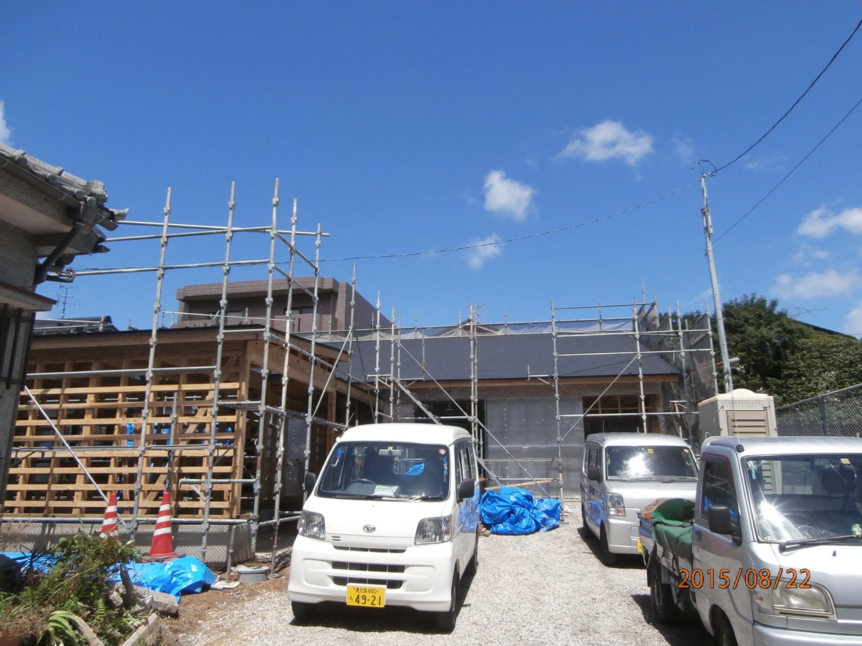 O邸:遮熱6面体(屋根・壁・床)施工