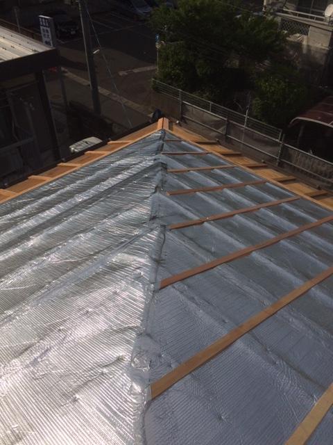 I邸:屋根遮熱施工