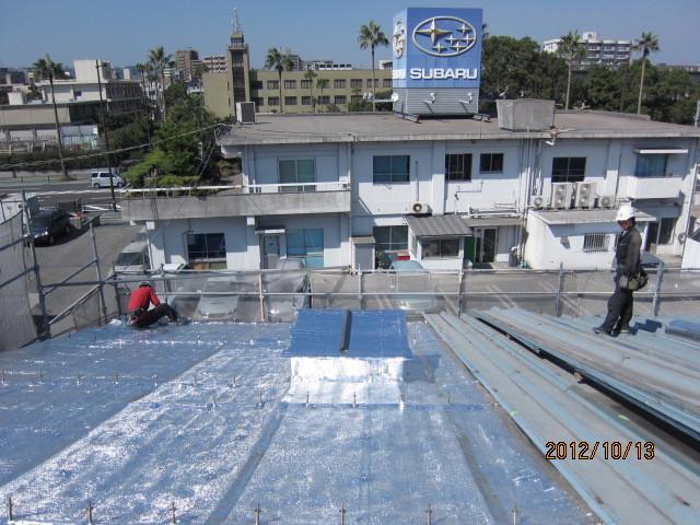 工場:遮熱カバー工法(屋根)施工