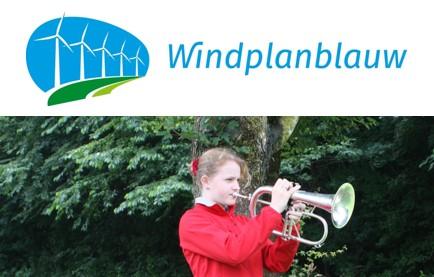 Bugel voor Gré-Anne met steun Windplanblauw