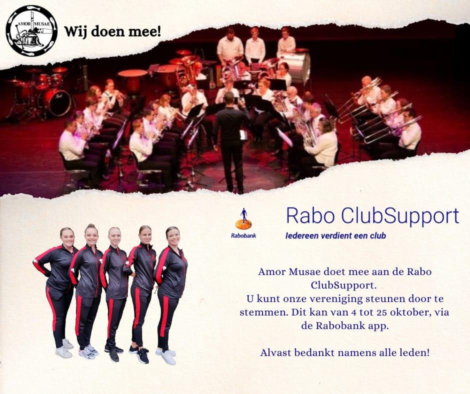 Wij doen mee met Rabo ClubSupport