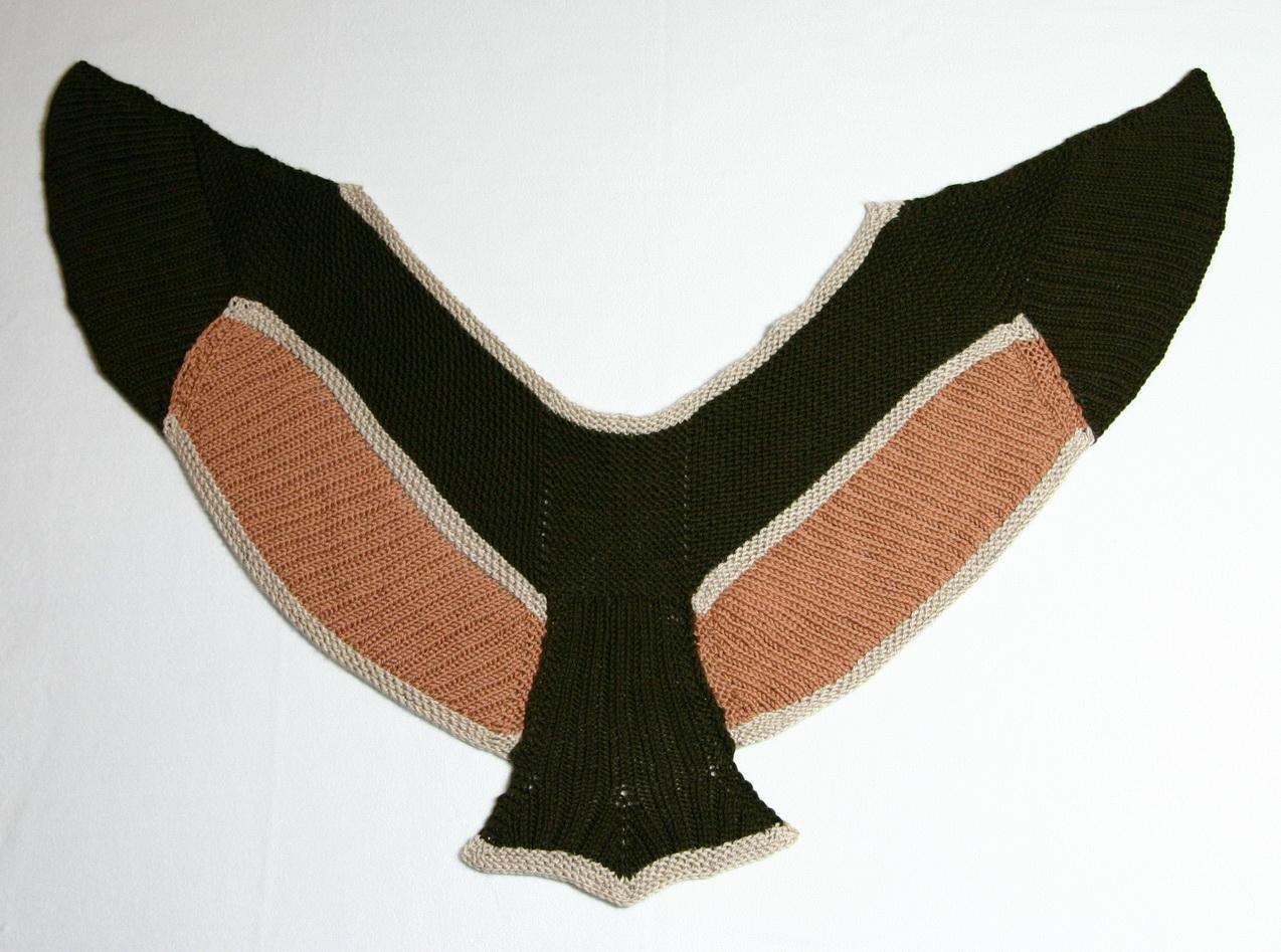 Birdwing Schal, Design: Stephen West