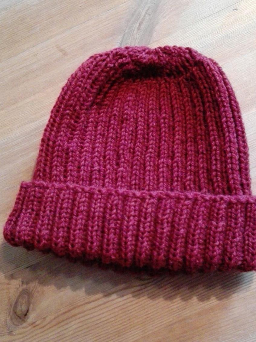 Mütze aus Sockenwolle