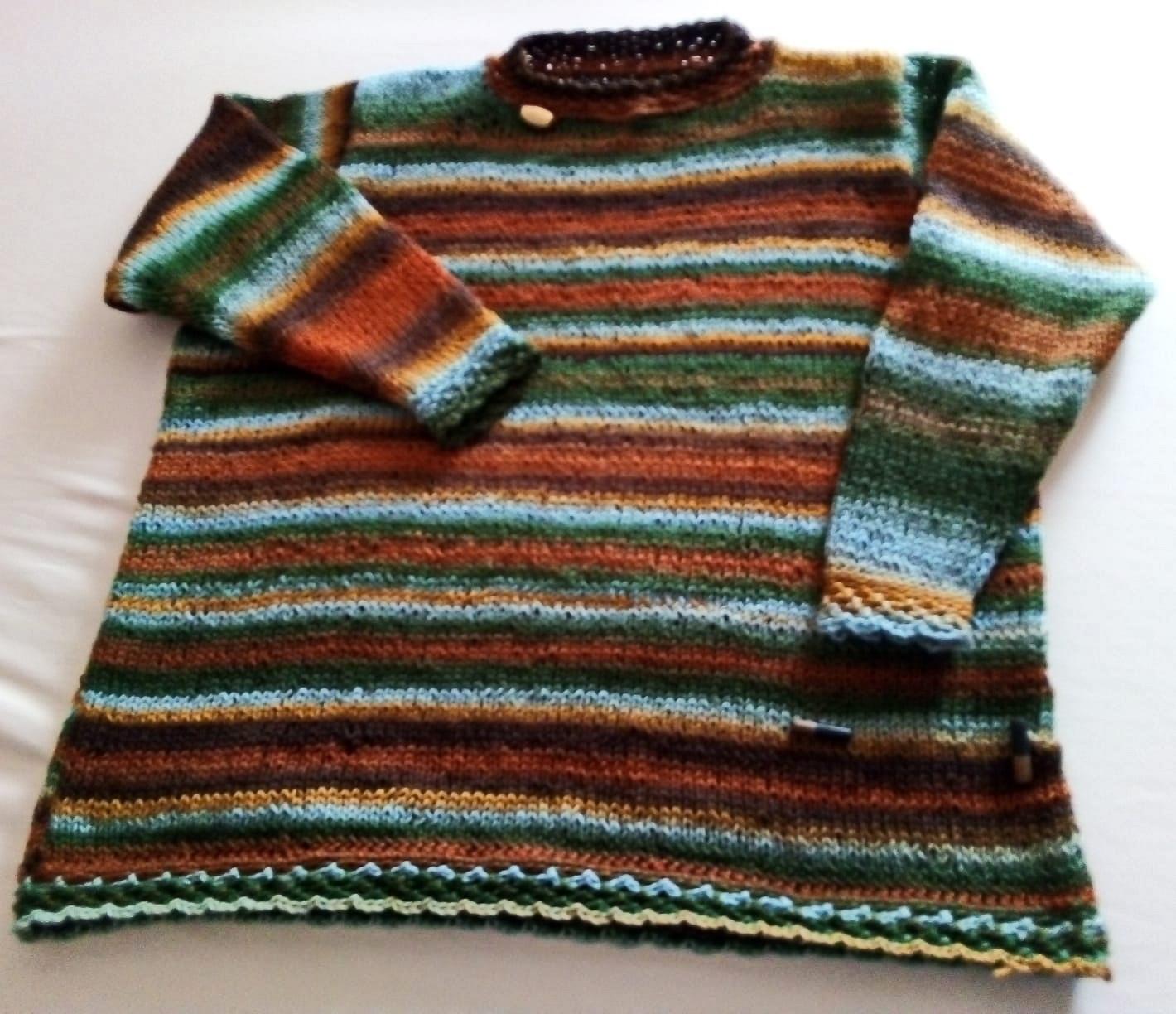 "Damenpullover, Schoppel-Wolle Reggae ombre ""Flussbett"""
