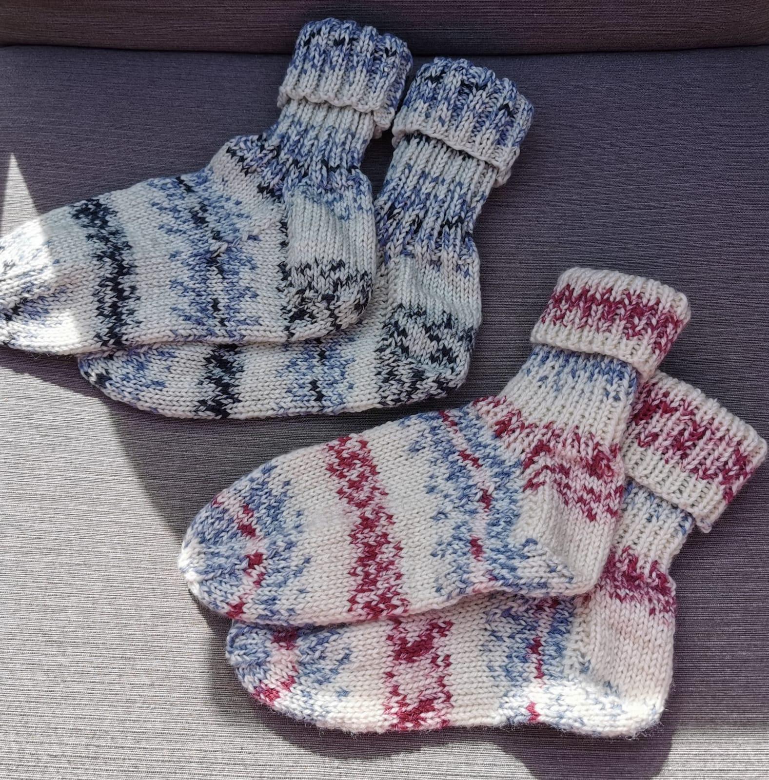 Lungauer Sockenwolle 6-fach, Farben 289-19 und 288-19