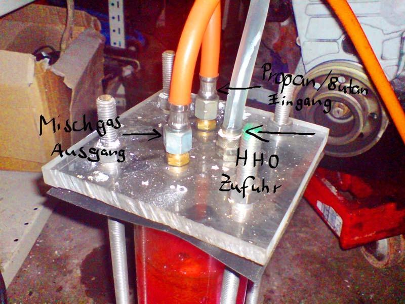 Modifizierter Bubbler zum gleichzeitigen Betrieb mit Propan/Butan