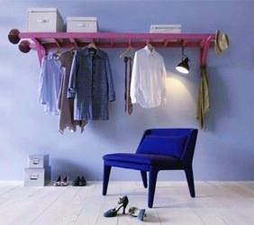 Scala a pioli colorata per arredamento interno, wood ladder painted for home decor