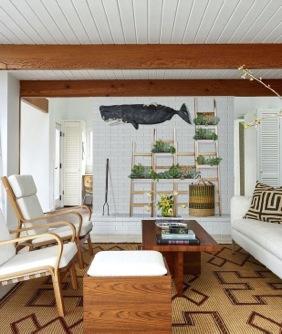 Decorare una parete con le scale in legno - Wall ladders for home decor