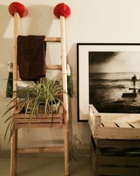 scala a pioli in legno per verde verticale - wood ladder for home decor