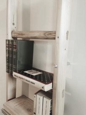 Kit di viti e spessori per trasformare una scala in libreria, library ladder kit