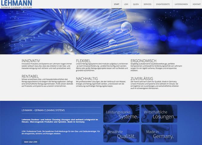 Die Internetpräsenz mit integriertem Webshop der Karlhans Lehmann KG