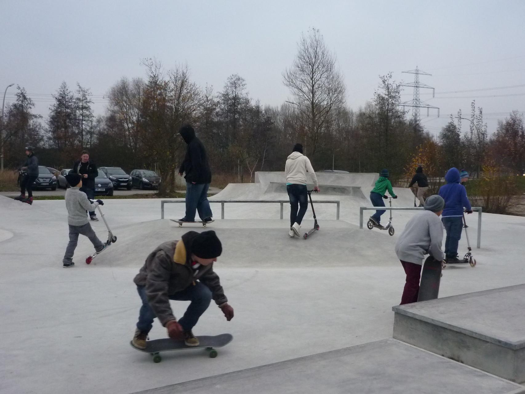Eröffnung der neuen Skateanlage