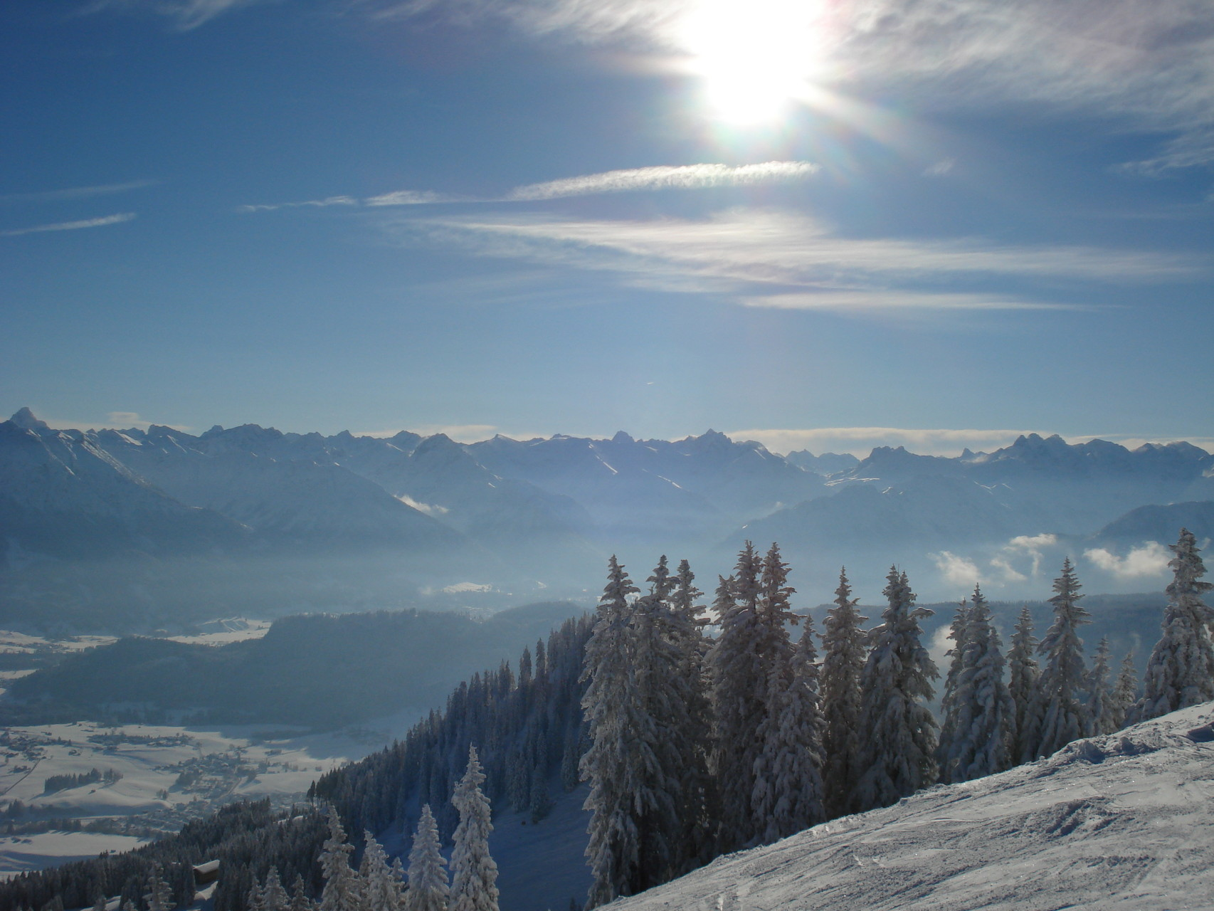 Ausblick vom Skigebiet Bolsterlang