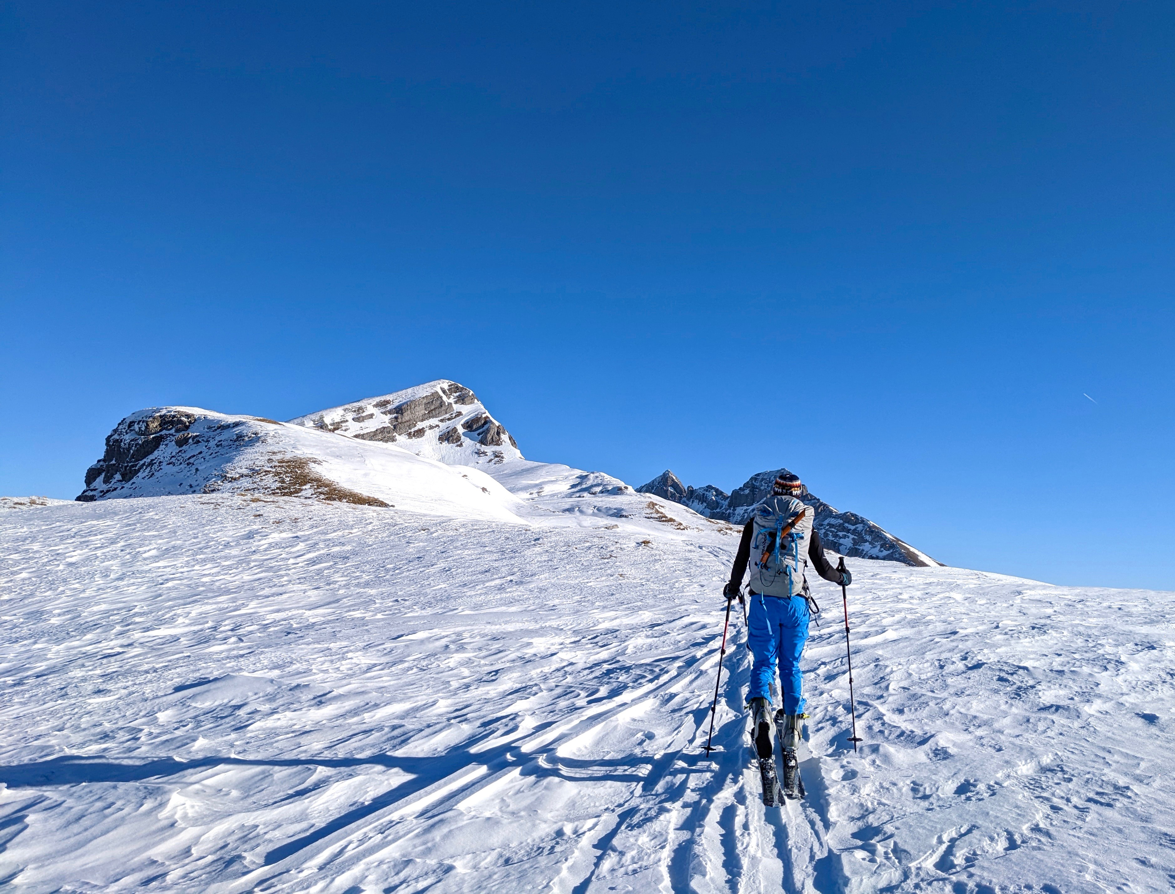 Pfannenstock, Skitour, Winterkorridor, Muotathal, Bisistal, Schlussanstieg, Gipfelanstieg, Gipfel
