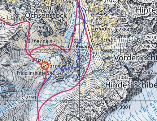 Skitour, Tödi, Tagestour, Tödi an einem Tag, Tierfehd, Aufstieg Tentiwand, Fridolinshütte, Variante