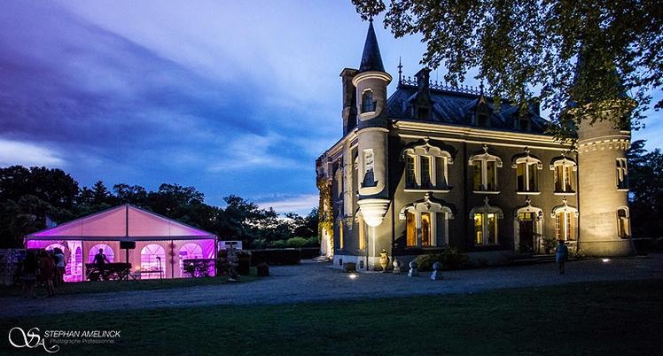 """Nachts im Schloβ Belle Epoque für die Feste, Geburtstage,Verwandschafttreffen und andere Festabende in 40 Linxe in der Gegend """"Les Landes""""."""