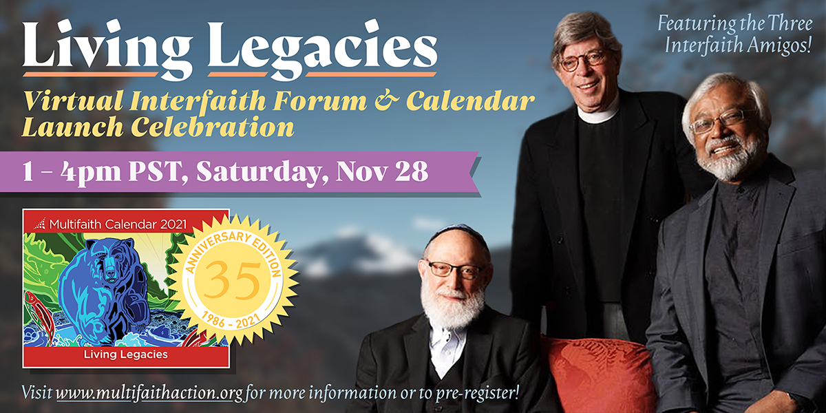 Living Legacies: Online Interfaith Connection Space & Calendar Launch