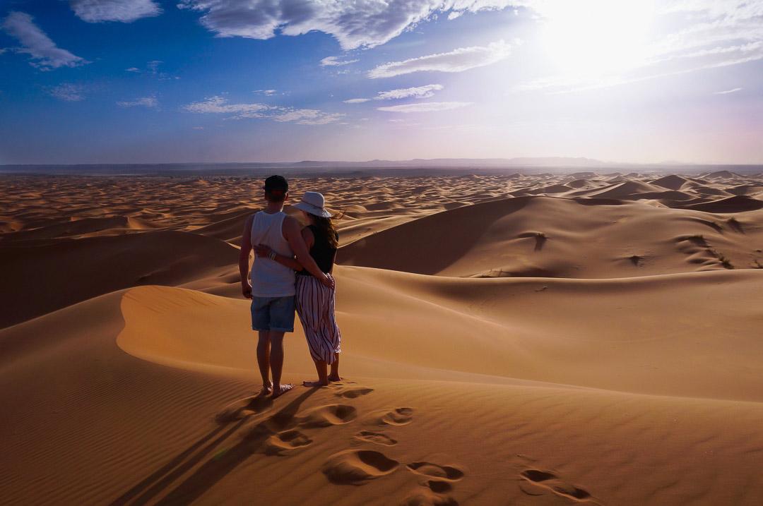 Ausblick von der Düne nebem unserem Wüstencamp