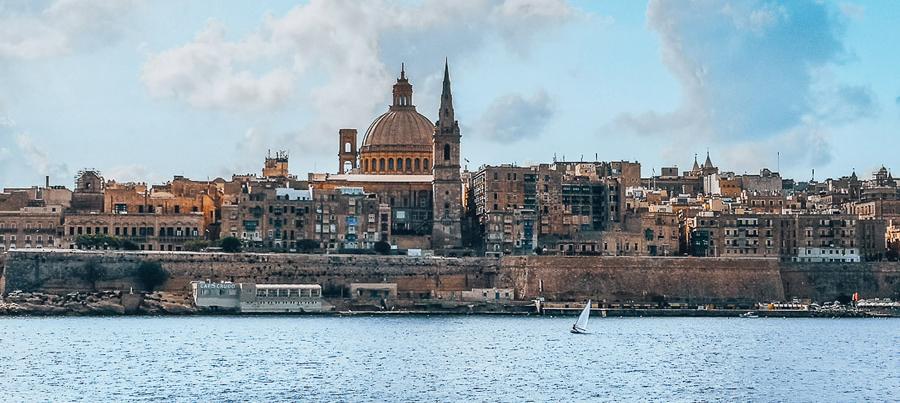 Ausblick von Sliema auf Valletta
