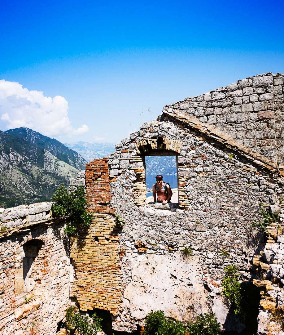 Auf der Festung bei Kotor
