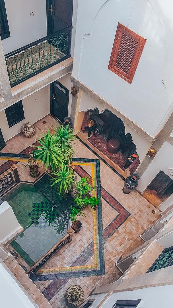 Riad mitten in Marrakesch
