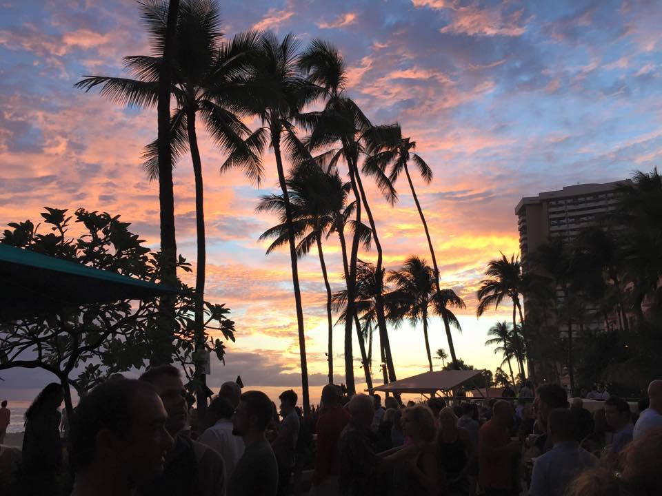 Sunset in Waikiki at Duke's