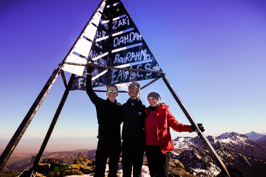 Ausblick auf dem Gipfel Jbel Toubkal