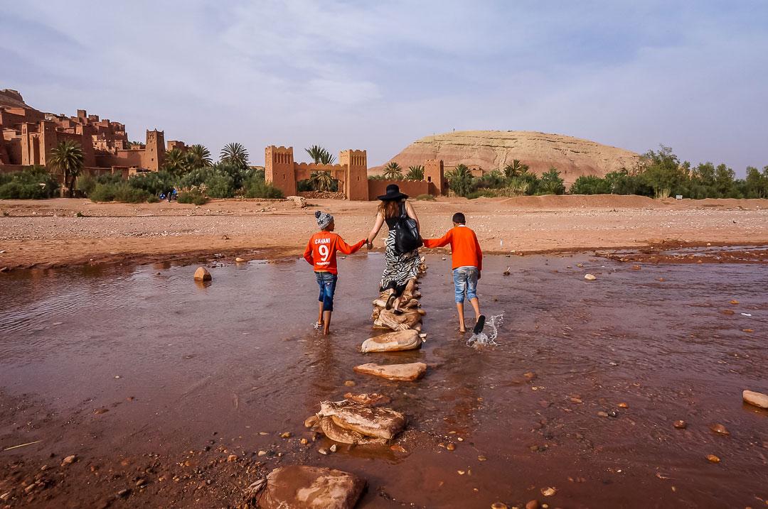 Auf dem Weg zur Kasbah in Aid Ben Haddou