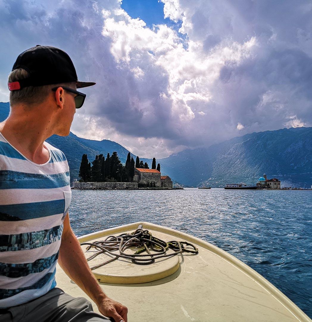 Bootsfahrt in Perast