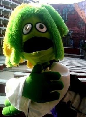 chico verde titeres garabatosos