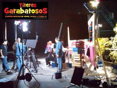 Títeres Garabatosos en Estudios Churubusco Proyecto SEDESOL Lenguas Indigenas