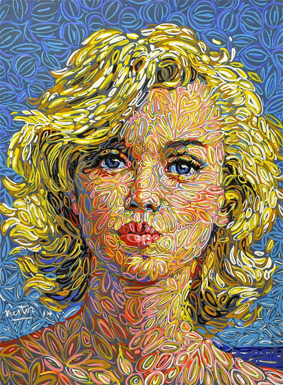 """Marilyn"", 2014, Acrylic on paper, 20 x 25 inches"