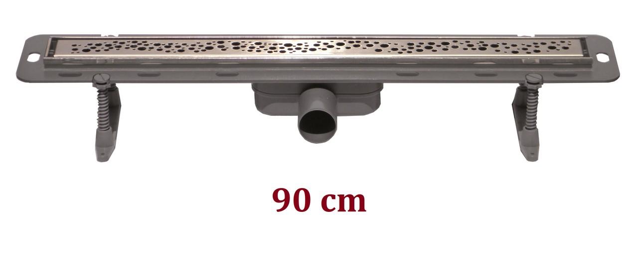 Caniveau douche italienne 900 mm perle ecoline site de e for Pose caniveau douche italienne
