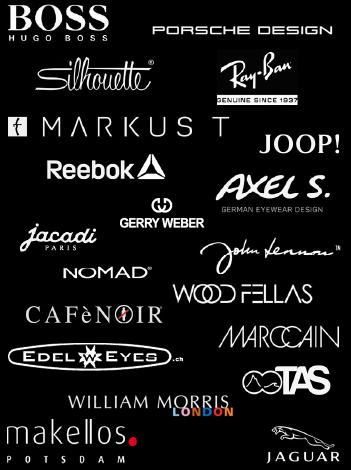 Marken bei Optik-Kurz: BOSS, EBM-Design, Cafe Noir, edelweyes, Gerry Weber, Italia Independent, Jaguar, Joop!, Karavan, Makellos, Marccain, Ray-Ban, Silhouette, Markus T, Reebok, TAS, TitanFLEX, William Morris, Woodfellas, Woodone, Axel S, John Lennon