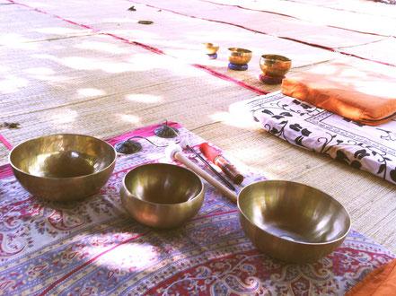 Klangmassage in Indien