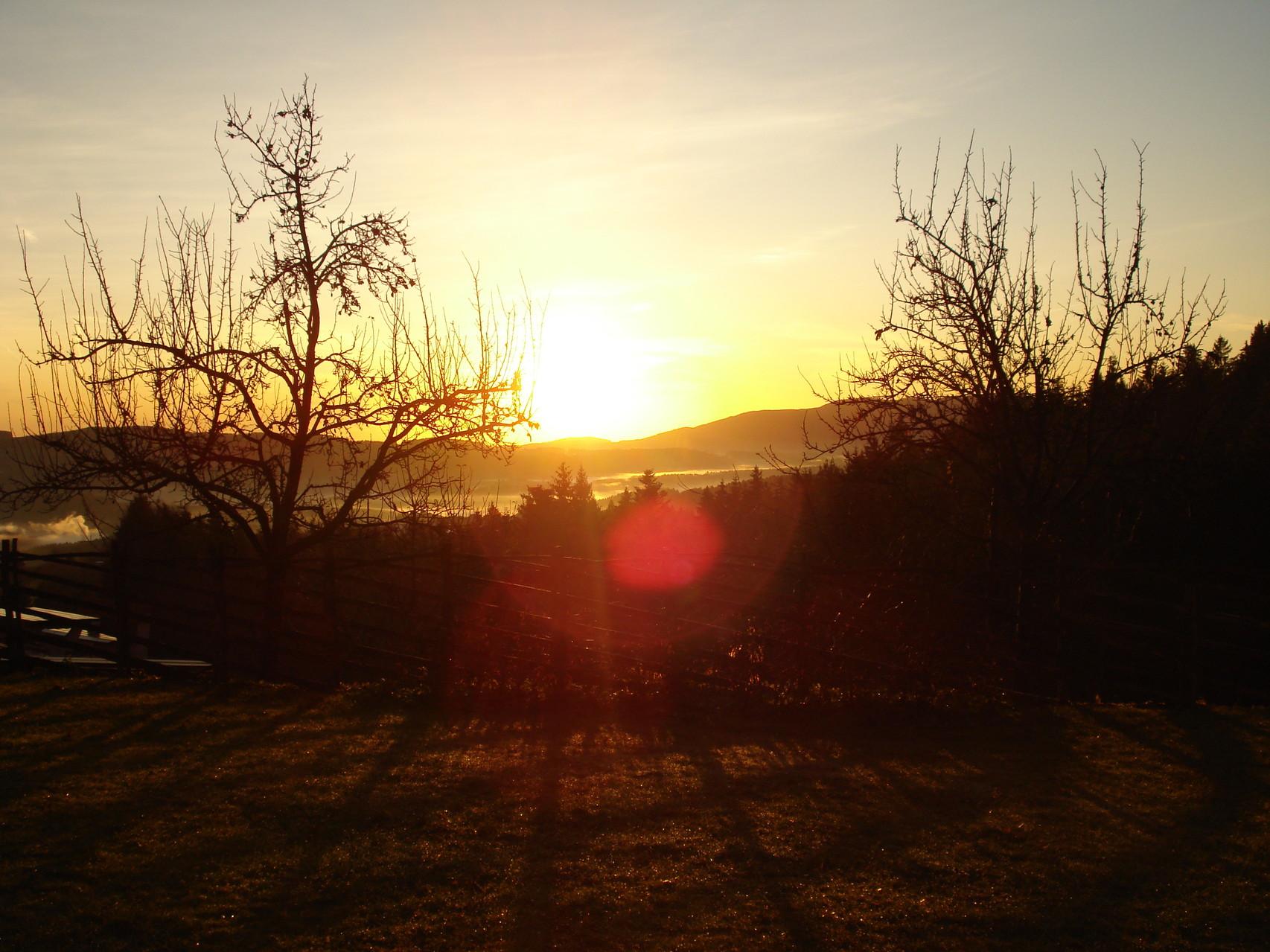 Sonnenaufgang über dem Joglland