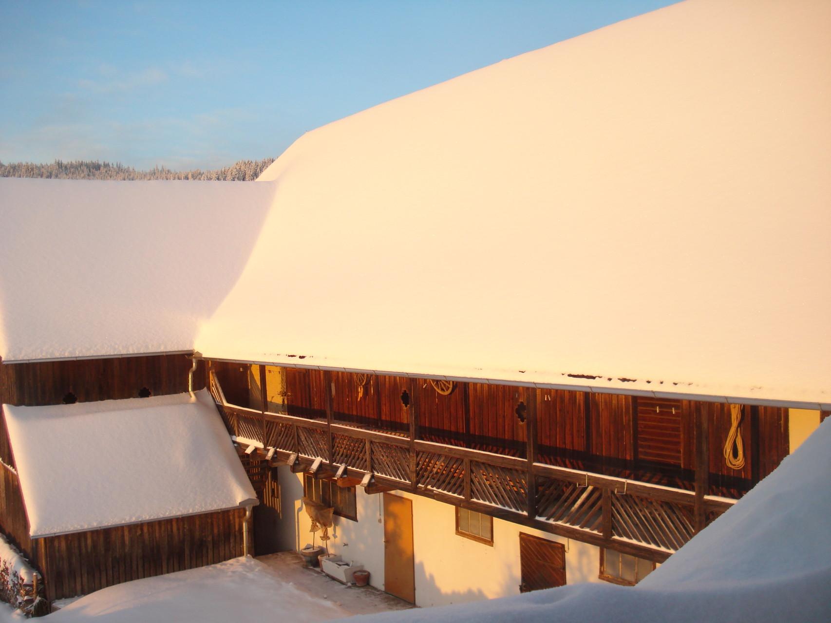 Der Edenbauerhof im Winter