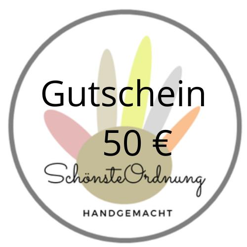 Gutschein Geschenk 50 €