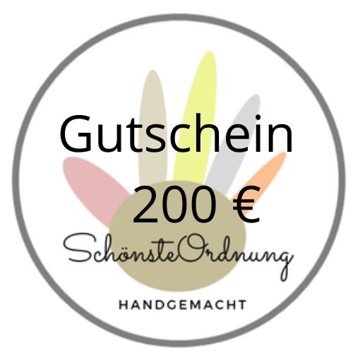 Gutschein Geschenk 200 €