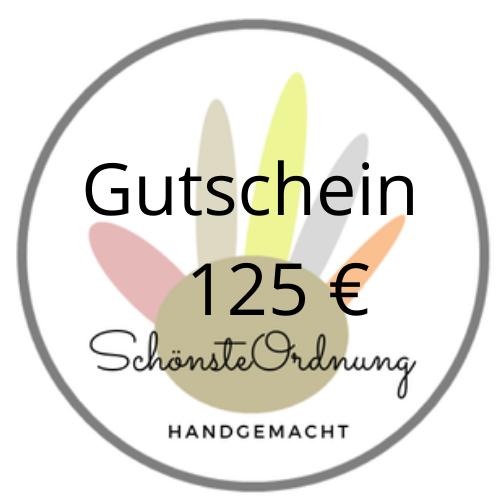 Gutschein Geschenk 125 €