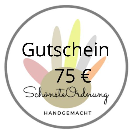 Gutschein Geschenk 75 €