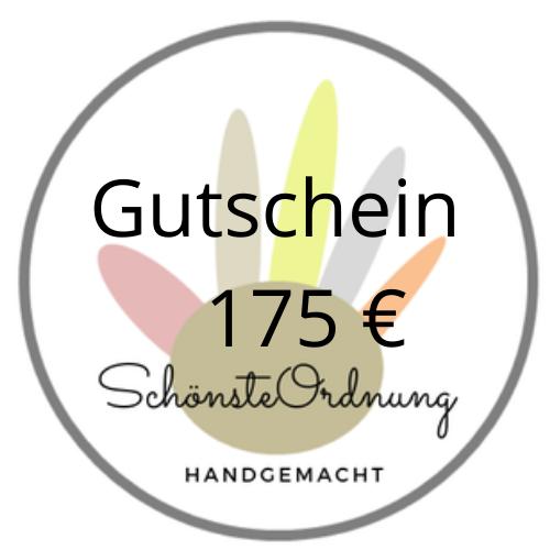 Gutschein Geschenk 175 €