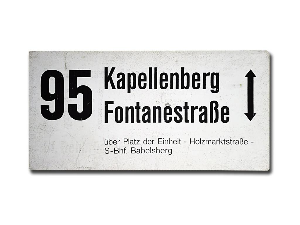 Schild der Linie 95 um 1995