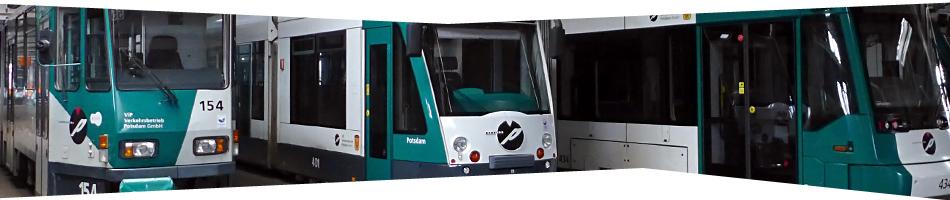 Potsdamer Straßenbahnwagen: Tatra KT4D, Combino und Variobahn