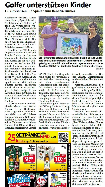 Wochenblatt Markt Trittau vom 31.8.2016